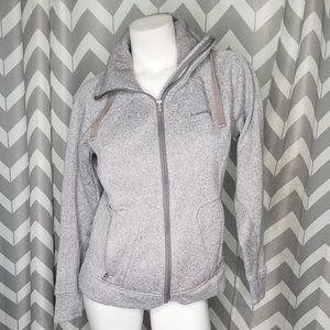 AVALANCHE gray zip up turtleneck sweater